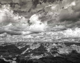 Grand Canyon Study - Sky, Clouds and the Canyon: An Archival Pigment Fine Art Print of the South Rim of the Grand Canyon, Arizona