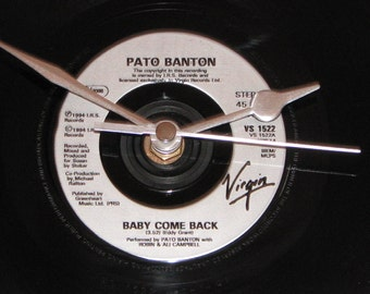 "Pato Banton baby come back  7"" vinyl record clock"