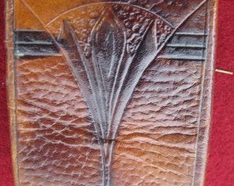 Vintage leather cigarette case holder