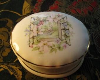 Vintage bone china box from Britain