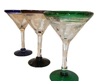 Mexican Glass Martini Stemware