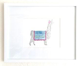 Llama 11x14 print