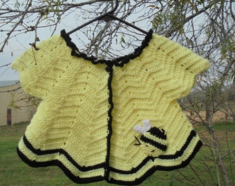 Baby Girl Cardigan, Crochet Baby Sweater, Infant Cardigan, Baby Girl Sweater, Girl Sweater, Crochet Infant, Infant Jacket, Crochet Sweater