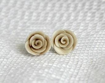 25% OFF! Pearl Rose Earrings