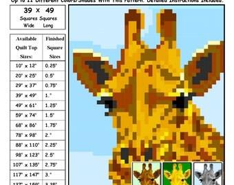 0134 Giraffe Attention Quilt Pattern