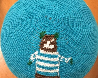 Design plus name hand crochet custom order kippah.