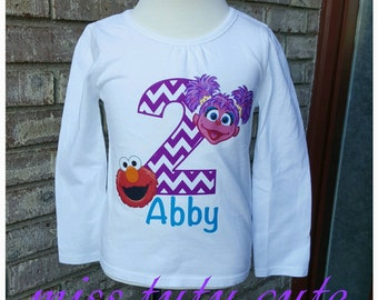 Abby and Elmo 2nd birthday shirt