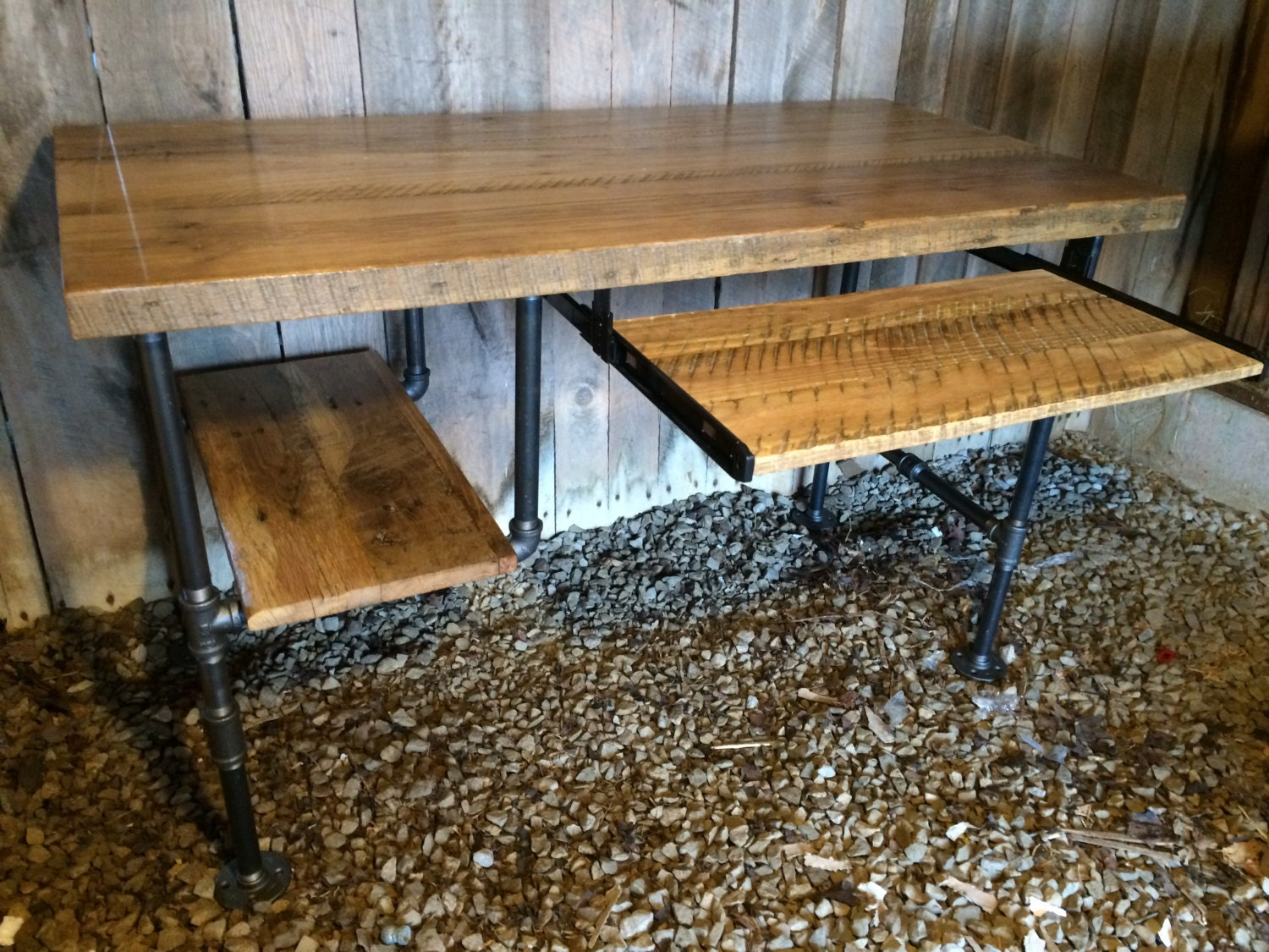 Computer Desk Reclaimed Wood Table Rustic Barnwood Table