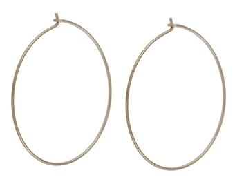 """Hoop earring,gold hoop earrings,earrings,silver hoop earrings,thin hoop earrings,large hoop earrings, 1.25"""" ,minimalist earrings,hoops-21067"""