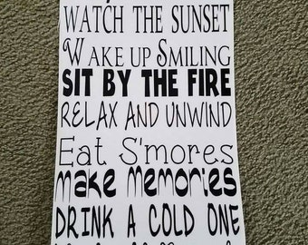 Camping Rules Decal