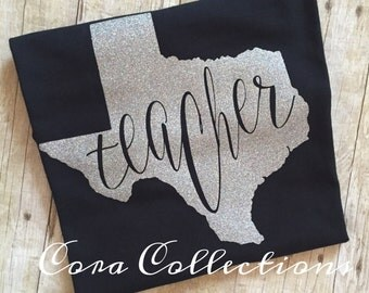 Gitter Vinyl Texas Teacher Tee Shirt