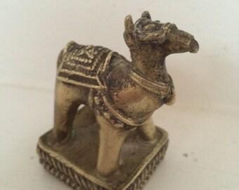 Small Brass Camel Sculpture - Tiny Camel