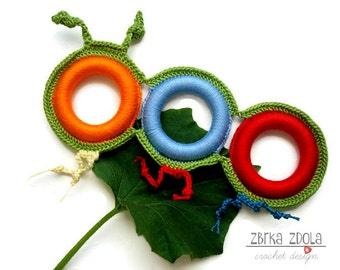 Mimi little caterpillar toy (Crochet Pattern No. 006) - INSTANT DIGITAL DOWNLOAD