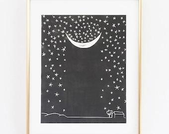 Falling Stars Print