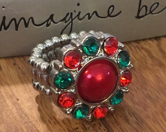 Christmas Stretchy Ring. One size fits all. #7
