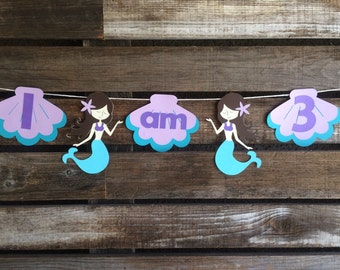 Mermaid Party Mini Banner- Mermaid Party, First Birthday, Under the Sea, Photo Prop, Birthday Party, Banner