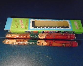Genuine Totem Pole Candles / totem Pole / Candles / Alaska / Alaska Souvenir / Vintage Alaska Souvenir / Vintage Souvenir