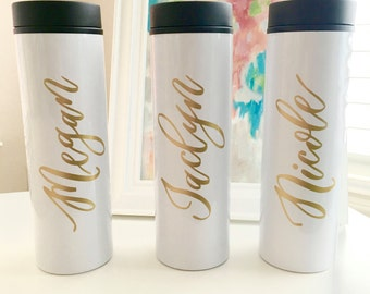 Travel Mug - Personalized Travel Mug-Bridesmaid Gift -Teacher Mug-Personalized Coffee Mug - Coffee Mug - Bride to be Gift - Wedding Gift