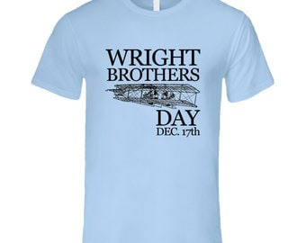 Wright Brothers Day December 17th Fun Aviation Celebration T Shirt