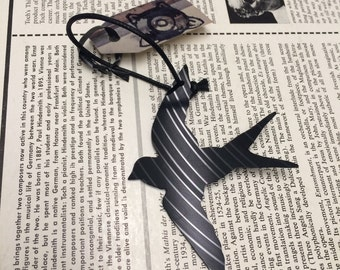 Swallow Vinyl Record Ornament