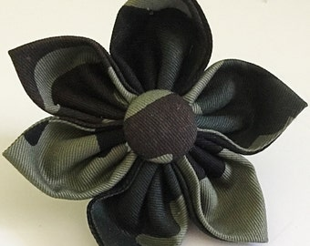 Military Camouflage Collar Flower for Dog or Cat