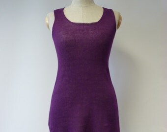 Handmade transparent delicate linen long top, S size. Perfect for summer.