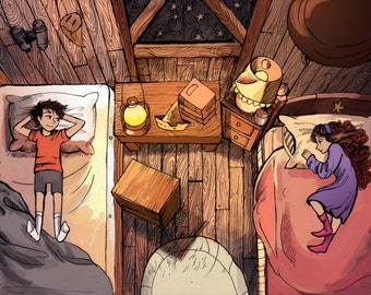 Mystery Twins Print