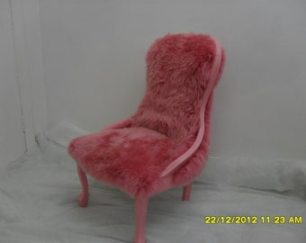Pink Fluffy Chair