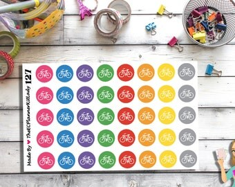 127 (40 - Bike Stickers) - Ride Bike, Bicycles, planner stickers