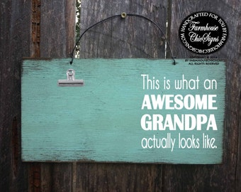 grandpa, gift for grandpa, grandpa picture frame, grandpa sign, grandpa decoration, Christmas gift for grandpa, awesome grandpa, 264