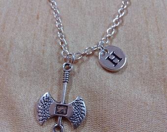 Axe charm necklace - axe jewelry, lumberjack necklace, hatchet necklace, silver axe necklace, weapon jewelry, ax necklace