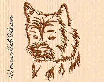 Embroidery Cairn Terrier