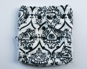 Pocket Diaper One Size Damask Crown READY TO SHIP