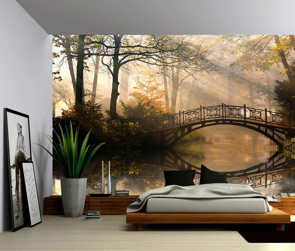 Autumn Park Large Wall Mural Self Adhesive Vinyl Wallpaper