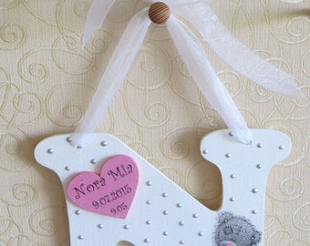 Personalized wooden letter - Tatty Teddy