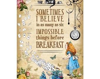 "Alice in Wonderland ""Sometimes I Believe"" Print"