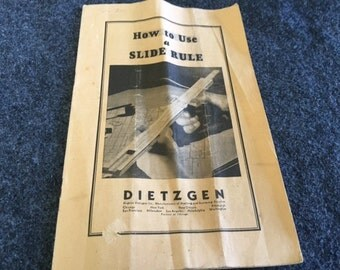 Dietzgen slide rule instruction booklet