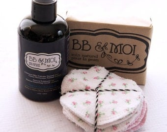 Organic baby soap with olive oil and shea butter , Natural Cleanser with olive oil and Washable cleansing pad