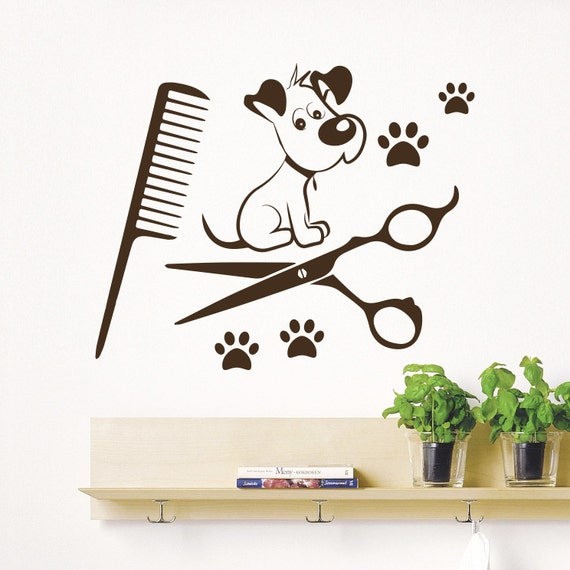 dog wall decals grooming salon pets decal by
