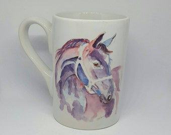 Coffee mugs mugs with horses on China mugs animal mugs colourful coffee mugs birthday gifts, horse lovers gifts, horse painting horse prints