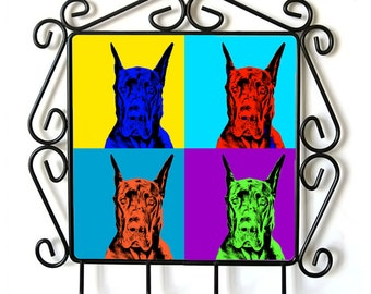 Great Dane- clothes hanger with an image of a dog. Collection. Andy Warhol Style