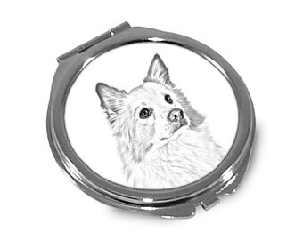 Icelandic Sheepdog - Pocket mirror with the image of a dog.