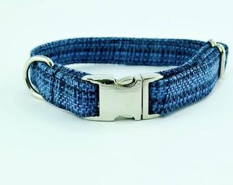 Navy Woven Collar