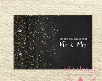 Mr & Mrs Star Glitter | Custom Made Guestbook | Weddings | Engagements | Anniversaries | Parties