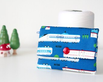 Japan Bullet Train ShinKanSen Speed Train Handmade Children Wallet // Gift for Kids
