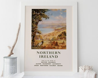 IRELAND TRAVEL Poster  - Vintage Travel Poster Vintage British Railways Travel Poster Vintage Train Poster High Quality Reproduction
