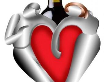 Valentine Lovers Wine Bottle Holder