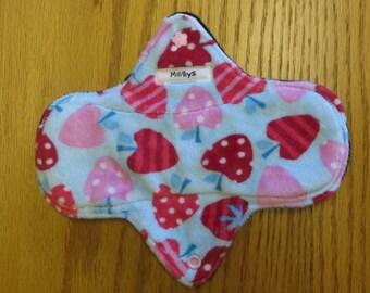 Minky Reusable Cloth Pad in Cherries