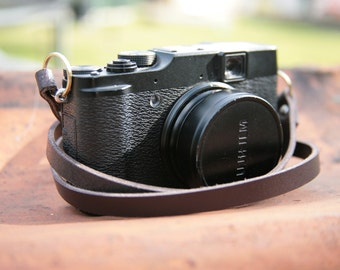 Handmade leather camera neck strap