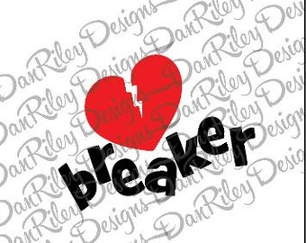 Heart breaker svg cut file